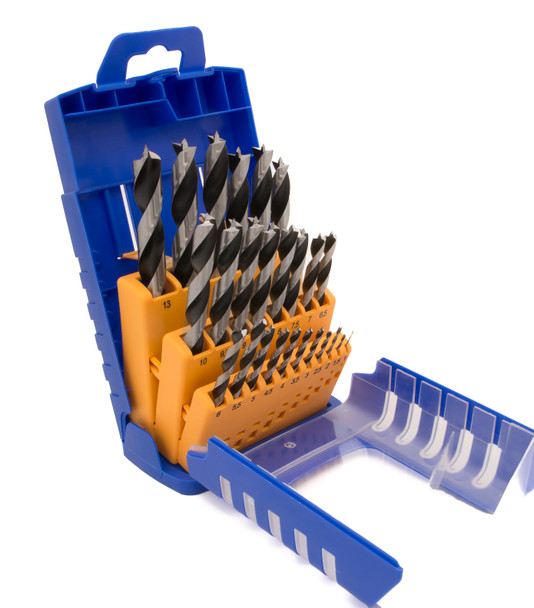 Chrome Vanadium Wood Twist Drill 25-Piece Set - Metric