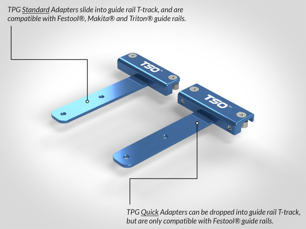 Quick Guide Rail Adapter for TPG Parallel Guide System standard and quick adapter comparison