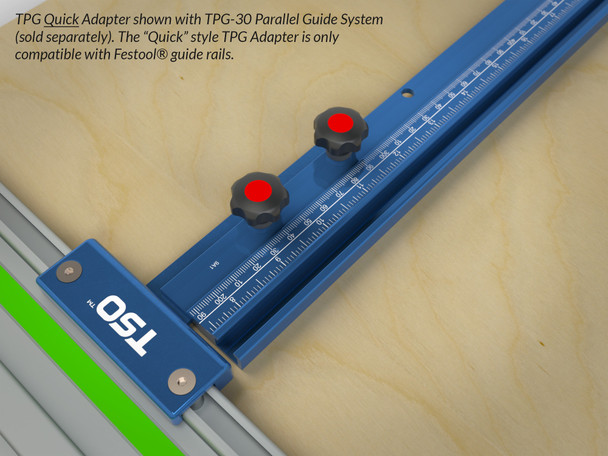 Quick Guide Rail Quick Adapter for TPG Parallel Guide System with TPG-30 parallel system