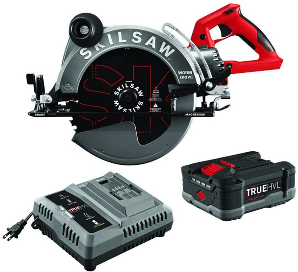 10-1/4 IN. TRUEHVL™ CORDLESS WORM DRIVE SKILSAW with battery accessories