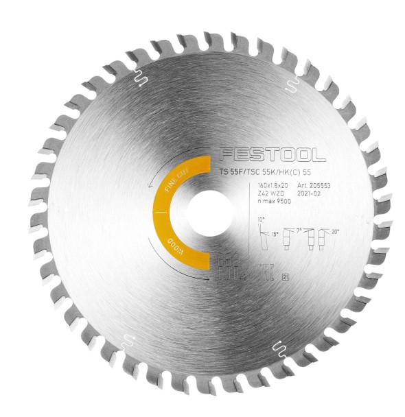 Fine tooth Saw Blade Wood Fine Cut  160x1,8x20 WD42