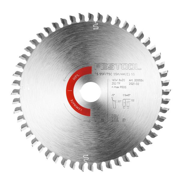 Saw Blade Laminate/HPL HW 160x1,8x20 TF52