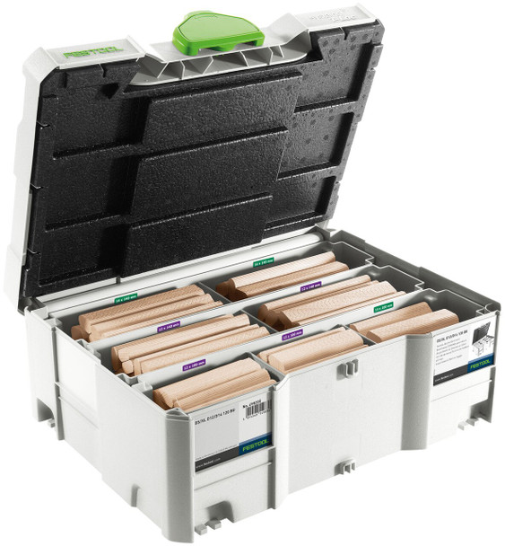 Festool Domino XL Joiner DF 700 Set With Domino Asst. Sys 8/10 DF700 (498204) & Festool Domino Asst. Sys 12/14 DF700 (498205)