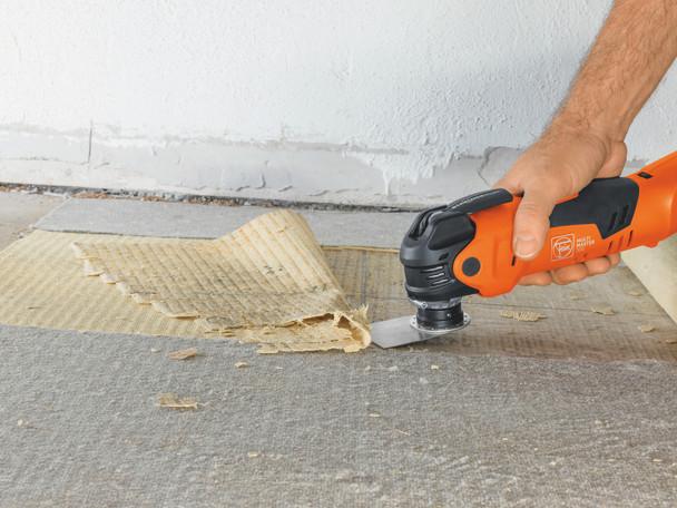 Fein CORDLESS MULTIMASTER AMM 300 PLUS START removing carpet adhesive