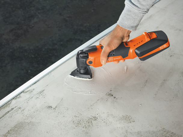 Fein Cordless MultiMaster AMM 500 Plus Top cleaning a floor