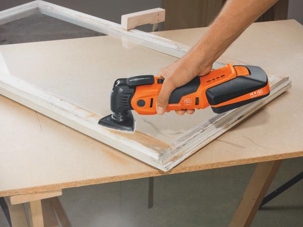 Fein cordless multimaster AMM 700 max top sanding wooden window frames