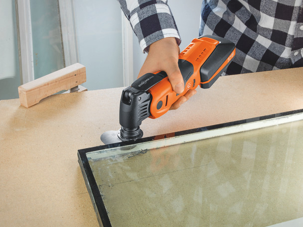 Fein cordless multimaster AMM 700 max top cutting glass