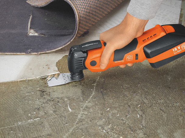 Fein cordless multimaster AMM 700 max top removing carpeting