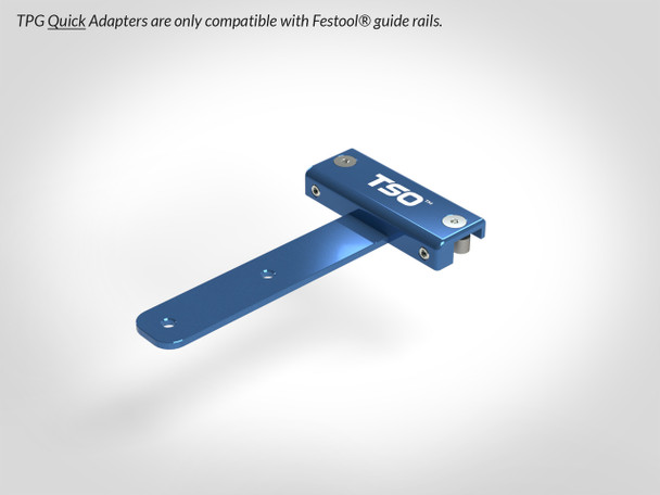 TSO GRS-16 Guide Rail Square (61-130-R) With Quick Guide Rail Adapter for TPG Parallel Guide System (Fits Festool Only) 61-388 & TSO TPG-50 Parallel Guide System Set (61-383)