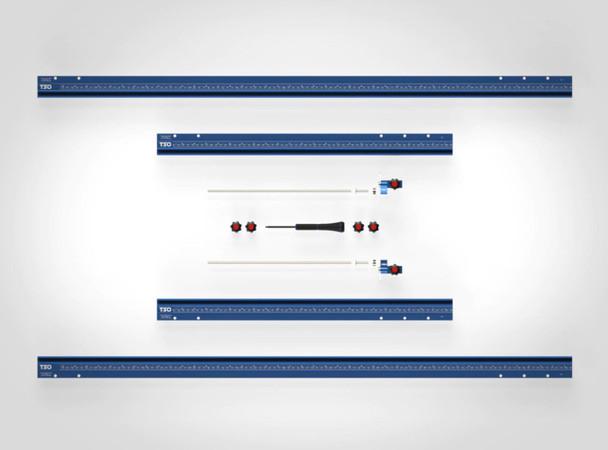 TSO GRS-16 PE Parallel Edge Guide Rail Square (61-230-R) With TSO TPG Guide Rail Adapter (61-390) & TSO TPG-50 Parallel Guide System Set (61-383)