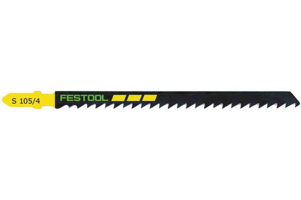 Festool S 105/4 Fast-Cutting Jigsaw Blade, 4 1/8 Inch, 6 TPI, 5-pack (204315)
