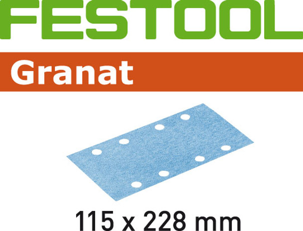 Festool Granat | 115 x 228 | 40 Grit | Pack of 50 (498944)
