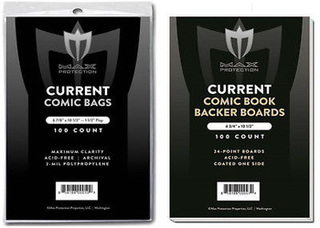 100 Premium Current / Modern Comic Book Bags and Boards / Sleeves Max Archival
