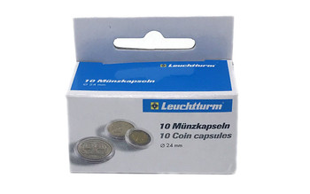 Coin Capsules inner diameter 24mm - US Quarters - 10ct Pack