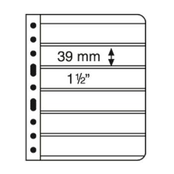 Lighthouse VARIO 6S Black Plastic 6-Pocket Stamp Pages - 5ct Pack