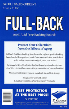E Gerber Full Back Boards - Current - 50ct Pack