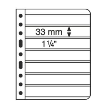 Lighthouse VARIO 7S Black Plastic 6-Pocket Stamp Pages - 5ct Pack