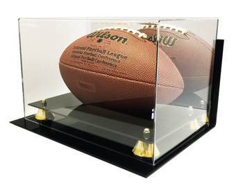New Deluxe Acrylic Wall Mount Football Display Case with Mirror