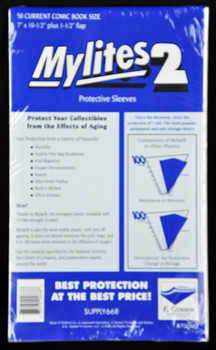 "2 Mil Current Comic Mylar 7""x10-1/2"" - Mylites 2 - 50ct Pack"
