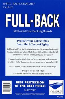 E Gerber Full Back Boards - Standard - 50ct Pack