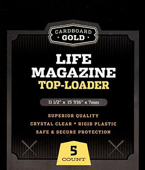 Cardboard Gold Life Magazine Toploaders - 5ct Pack
