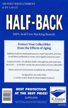 E Gerber Half Back Boards - Current - 100ct Pack
