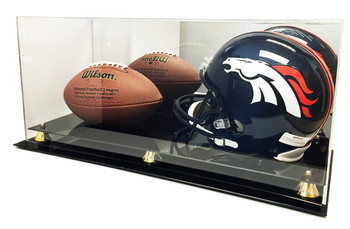 Max Protection Full Size Football and Full Size Helmet Display Case