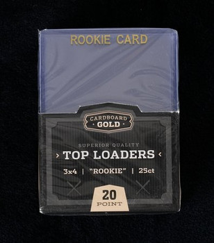 Ultra Pro 3 X 4 Rookie Gold Toploader 25ct