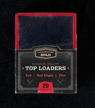 3X4 Toploaders Card Holders - Red Border - 25ct Pack