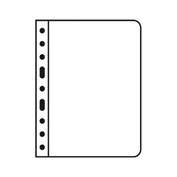 Lighthouse VARIO 1S Black Plastic 1-Pocket Stamp Pages - 5ct Pack