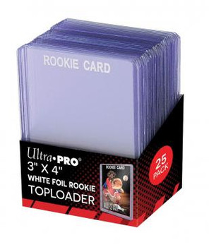 Ultra Pro Rookie White Toploaders - 25ct Pack