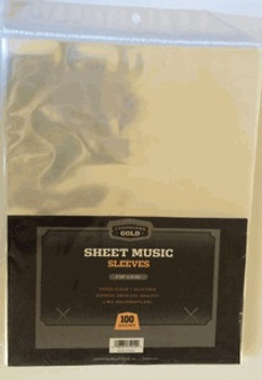 CBG Sheet Music Sleeves - 9-3/8 x 12-1/4