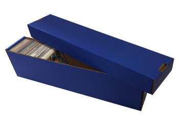 Card Penthouse House Storage Box - with 10 800-Count Blue Vertical Storage Boxes