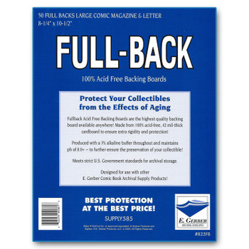 E Gerber Full Back Boards - Magazine - 50ct Pack