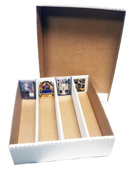 3200ct 4-Row Monster Trading Card Storage Box - Half Lid