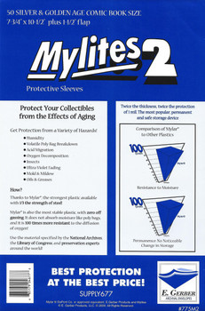 E Gerber Mylites 2 - Silver / Gold - 50ct Pack