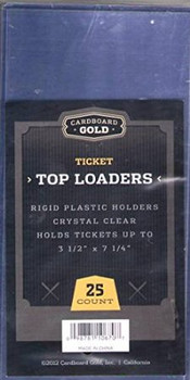 3-3/8 x7-1/4 Ticket Size Topload Holder - 25ct