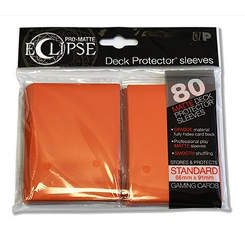 PRO-Matte Eclipse Orange Standard Deck Protector sleeves (80 count pack)
