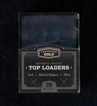 3X4 Toploaders Card Holders - Black Border - 25ct Pack