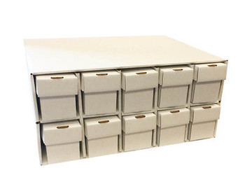 New & Improved Card Penthouse House Storage with 10 Vertical 802 2pc Boxes