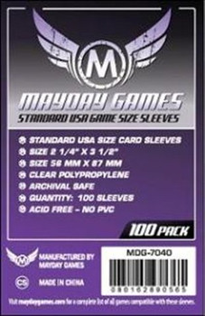 Mayday Games Standard USA Card Sleeves - 56mm x 87mm - 100ct Pack