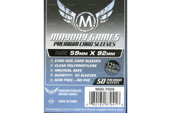 Mayday Games Euro Card Sleeves - 59mm x 92mm - 50ct Pack