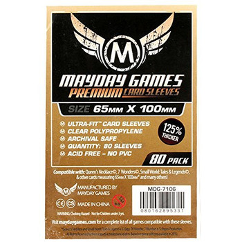 7 Wonders Card Sleeves Magnum Ultra Pit Premium - 65mm x 100mm - 80ct Pack