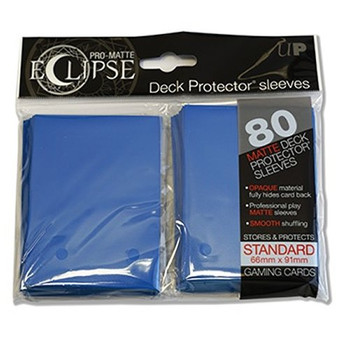 PRO-Matte Eclipse Blue Standard Deck Protector sleeves (80 count pack)