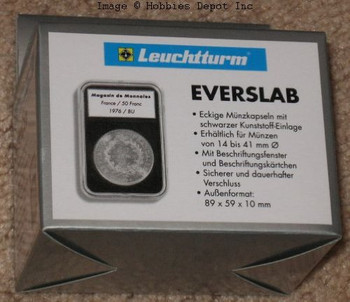 EVERSLAB Rectangular Coin Capsules Slabs 25mm - 1/2 oz Gold Maple Leaf Holders - 5ct Pack