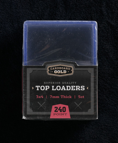 Thick Trading Card Toplod Holder - 240pt - Case of 250