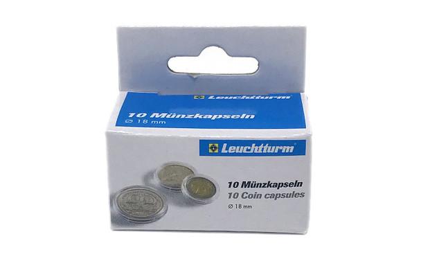 Coin Capsules inner diameter 18mm - Gold Panda - 10ct Pack