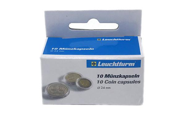 Coin Capsules inner diameter 24mm - US Quarters - 10ct Pack