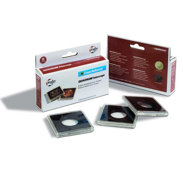 Square Coin Capsules QUADRUM inner diameter 24 mm - US Quarters - 6ct Pack