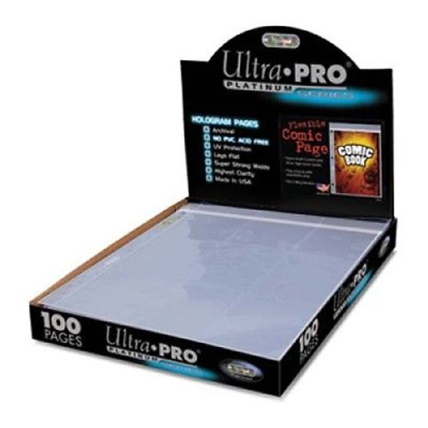 Box of 100 Ultra Pro Platinum Flexible Comic Book Resealable Binder Pages